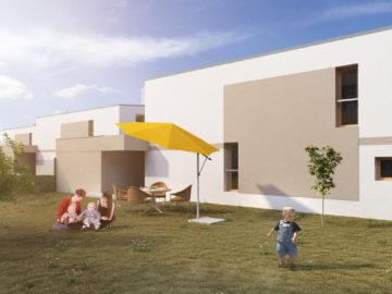 Rodinný dům (pohled do zahrady)