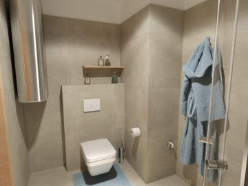 Vizualizace koupelny byt