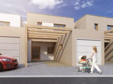 Řadový rodinný dům (pohled zepředu) Řadový rodinný dům (pohled zepředu)